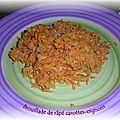Brouillade de râpé de carottes et oignons au cumin