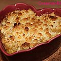 Crumble pomme-cannelle