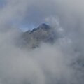 matinée dans les nuages à l'alpe d'huez.