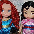 Deux nouvelles poupées disney animator