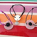 Bracelets et collier fimo