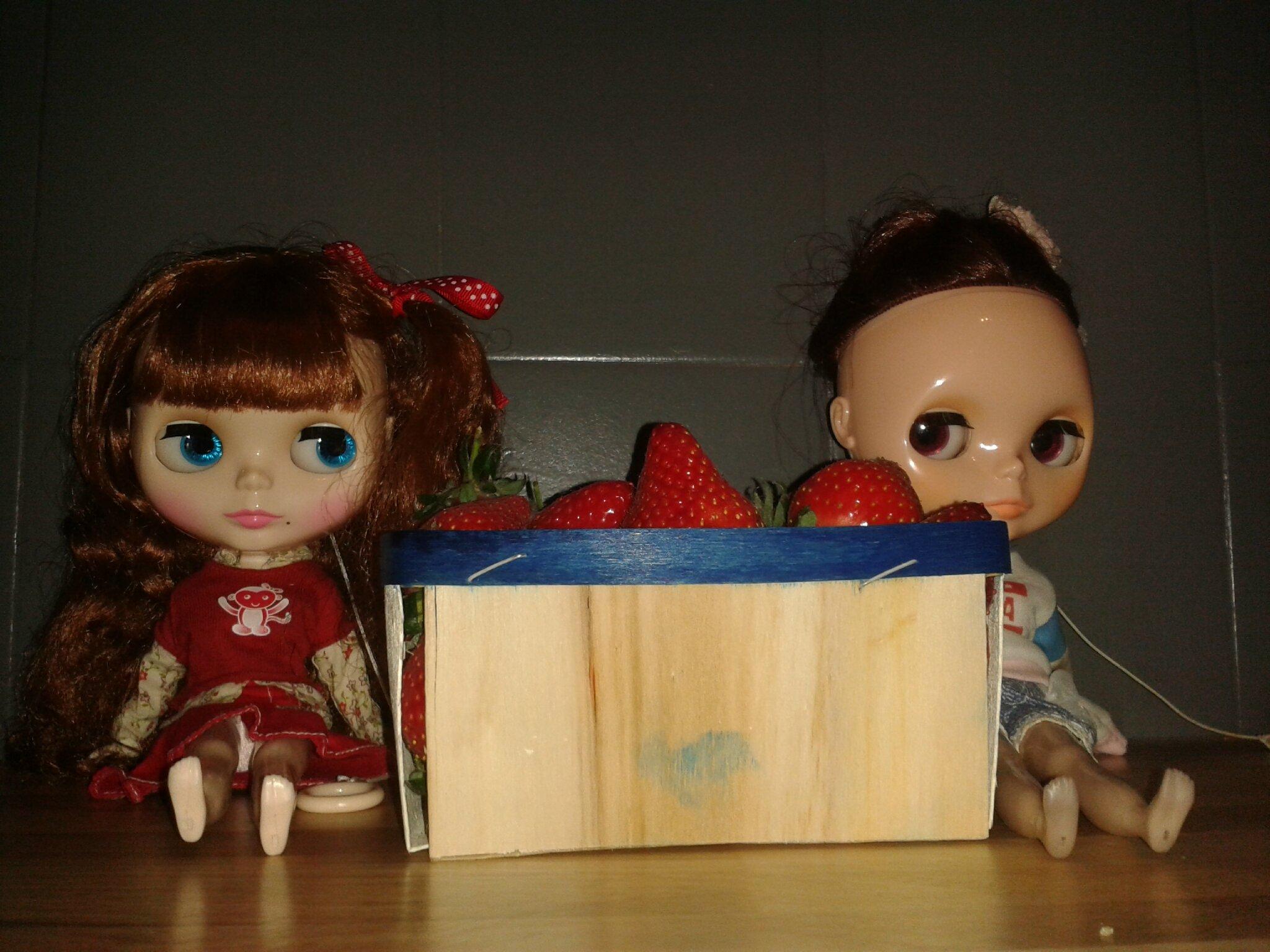 Les fraises ...