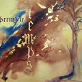 calligraphie sur papier aquarelle