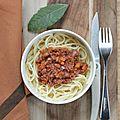 Haché bolognaise 100% végétal fait-maison {recette #vegan #healthy #aplv #sansgluten}
