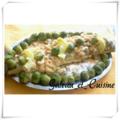Saumon en sauce blanche ,crevettes et champignons