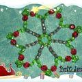Etoile facettes plastiques rouge verte noire