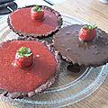 Tartellette choco / fraise