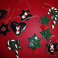 Noël: décoration en porcelaine froide