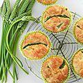 Muffins aux asperges {des bois et des jardins} et fromage de chèvre