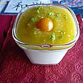Panna cotta au sucre vanillé et coulis mangue