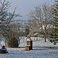 De la neige au jardin
