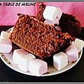 Cake au chocolat et marshamallows...