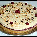 Le tourbillon des merveilles ( gâteau amande framboise et mascarpone)
