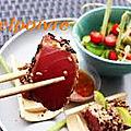 Medaillons de thon au gingembre