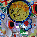 Porridge cru - pruneaux et mangue