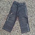 Jean noir à poches check in, 4 ans