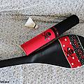 housse de raquette et boite de volants badminton Many Chon