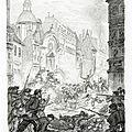Leroy, combat rue Saint- Antoine d'après Philippoteaux