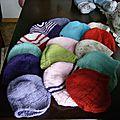 lot de bonnets péruviens
