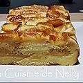 Croque cake à la brioche, pomme et caramel au beurre salé