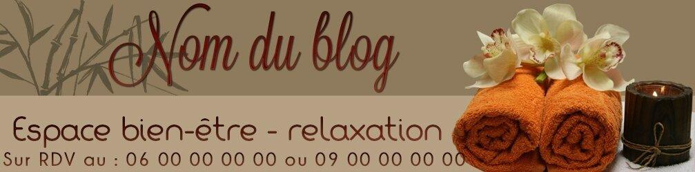 Bannière (header) salon de massage, relaxation....