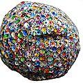 Hervé THAREL SCHMIMBLOCK'S erda 2015 - acrylique sur argile Ø ± 30cm 21détouré