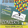 Concerts à l'auditorium petrucciani montelimar les 29 et 30 mai 2015