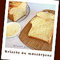 Brioche au mascarpone (sans beurre) et 11 bougies