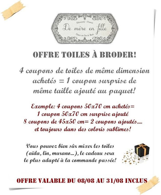 offre toiles aout 2018