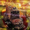 Fondant chocolat aux noisettes et marrons