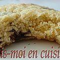 Biscuits sablés aux pépites de chocolat