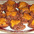 Mini-tartelettes façon hamburgers