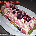 Bûche red vanilla (vanille-fruits rouges)