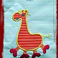 Je ne pense pas avoir mis ce motif sur le blog : monstre 1 la girafe