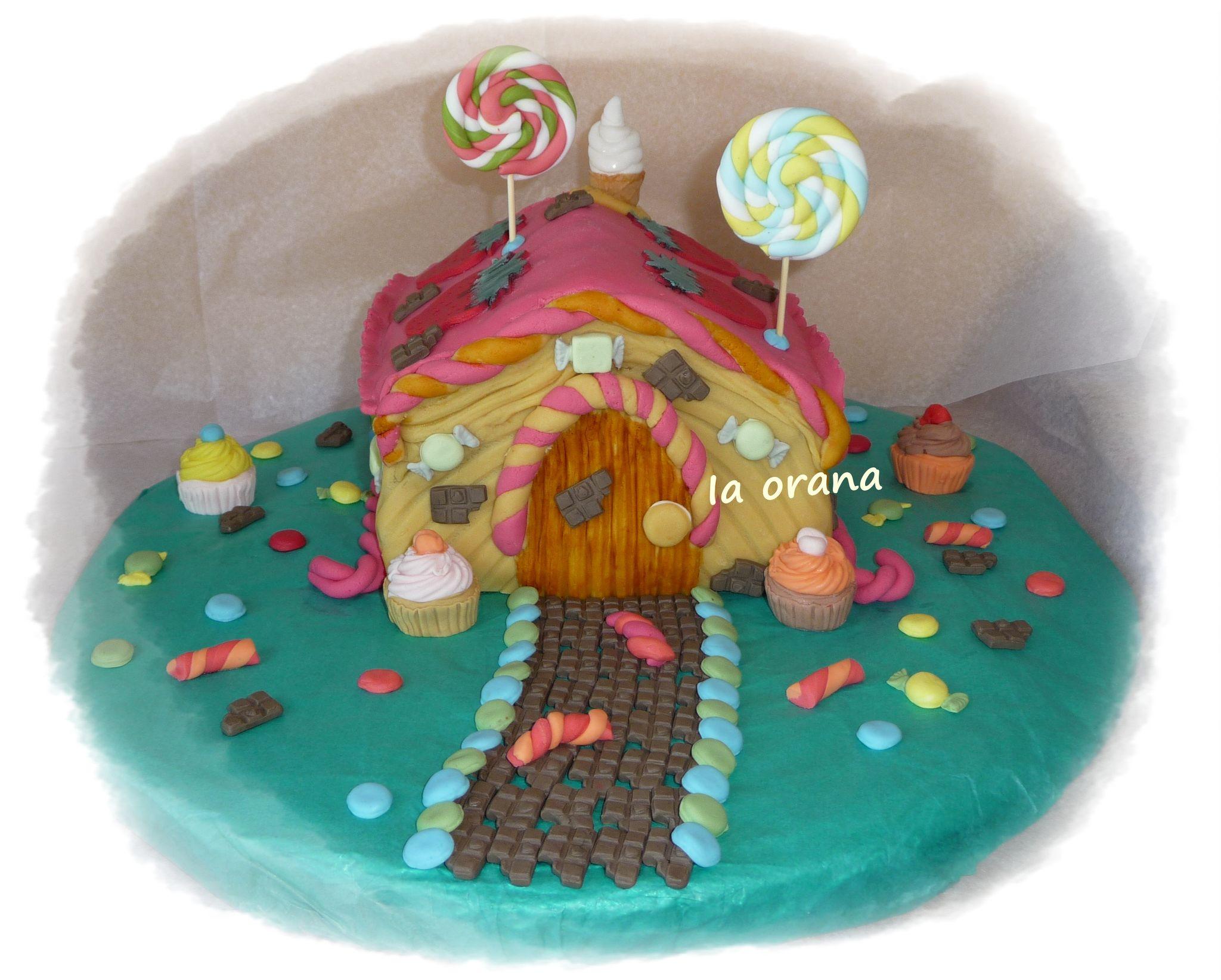 Gâteau maison de bonbons/Candy's house cake