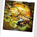 Poulet rôti aux pommes et au romarin