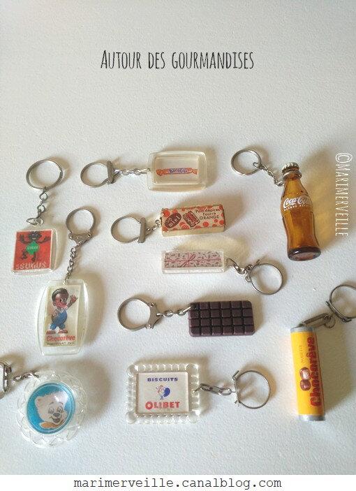 porte-clés vintage thème gourmandises - marimerveille