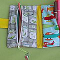 trousse double fait maison, handmade double pencil case (4)