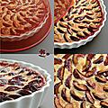 Tarte aux fruits d'alsace, tarte aux quetsches d'alsace (les vraies et les meilleures quetsches)