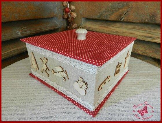 tuto n 18 jolie boite en carton recouverte de tissus et dentelles les p 39 tits tutos de rouge. Black Bedroom Furniture Sets. Home Design Ideas