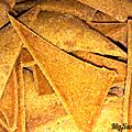 Les tortillas chips (pour aller avec le guacamole)
