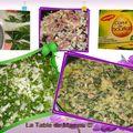 Pizza aux blettes, saumon et crevettes