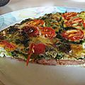 Omelette jambon style pizza