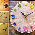 ¨°o.o horloge récup boutons o.o°¨