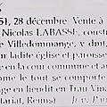 1551 lundi 28 décembre: vente d'une maison pour la paroisse
