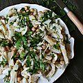 Salade de morue et pois-chiche à la portugaise