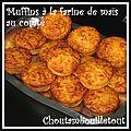 Muffins à la farine de maïs et comté