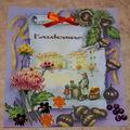 carte décorée avec des perles ,sequins,broderie etc ...
