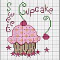 Grille gratuite : sweet cupcake