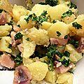 Salade de pommes de terre/hareng fumé